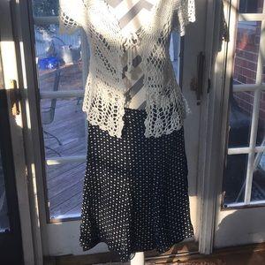 Express Retro Silk Skirt